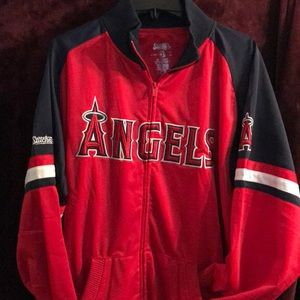 Angels baseball zip up jacket XXL Stitches